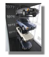 Baureihenturm im BMW-Museum