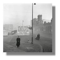 Grenze zwischen dem amerikanischen und sowjetischen Sektor in Berlin