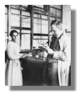 Hahn/Meitner im Labor