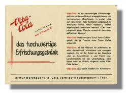 Vita Cola - Werbung für das hochwertige Erfrischungsgetränk