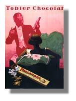 Toblerone-Werbeplakat 1938