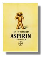 Aspirin-Werbeplakat, 1952