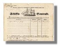 Schiffs-Contrakt für Auswanderer