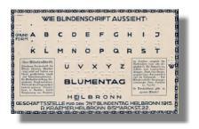 Postkarte zum Internationalen Blindentag 1915