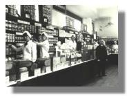 Verkaufsabteilung in den 50er Jahren
