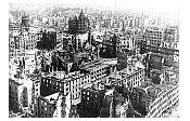 Dresden nach dem Bombenangriff im Februar 1945