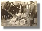 Erste Kettensäge auf der Grünen Woche 1931