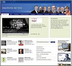 Screenshot: Portal zur Geschichte der CDU