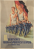 Plakat Leipziger Turn- und Sportfest 1956