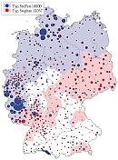 Familiennamenatlas: Verteilung des Familiennamens Steffen bzw. Stephan