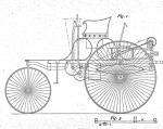 Fahrzeug-Skizze aus Benz-Patent von 1886