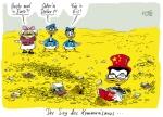 Klaus Stuttmann - Karikatur China als Retter Dagobert