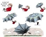Klaus Stuttmann - Karikatur Rettungsschirm als Knirps
