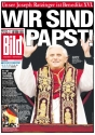 BILD – Titelseite Wir sind Papst 2005
