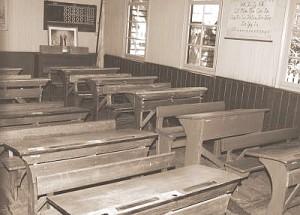 Schule um 1920 - Klassenraum