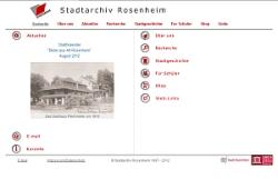 Webseite Stadtarchiv Rosenheim