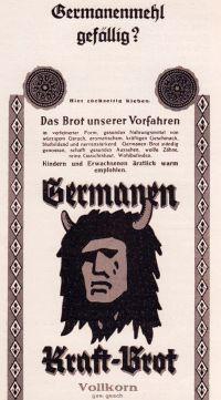 Ausstellung: Graben für Germanien in Bremen. Germanenbrot-Anzeige
