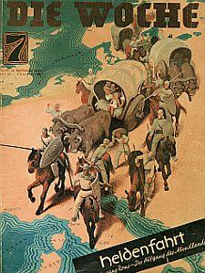 Ausstellung: Graben für Germanien in Bremen. Zeitschrift Die Woche 1934