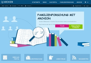 Kirchenbuchportal archion – Screenshot