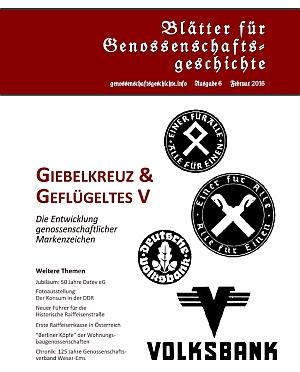 Blätter für Genossenschaftsgeschichte, Ausgabe 6 (Februar 2016)