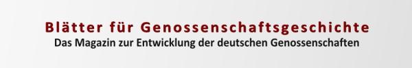 Blaetter fuer Genossenschaftsgeschichte